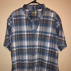 GH Bass Button Down shirt short sleeve XXL